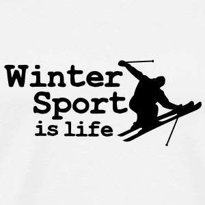 Wintersport is life with skier Tee shirts manches longues - T-shirt Premium Homme