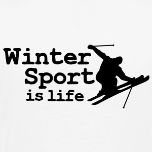 Wintersport is life with skier Kids' Tops - Men's Premium T-Shirt
