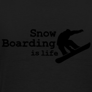 Snow boarding is life with snowboarding Jacken - Männer Premium T-Shirt