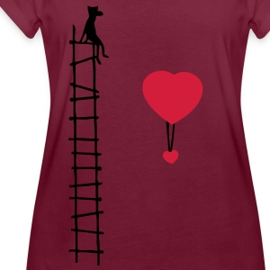 scale of love (2c)  Aprons - Women's Oversize T-Shirt