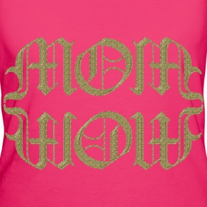 AMBIGRAM MOM WOW / gold | BIO Stofftasche - Frauen Bio-T-Shirt