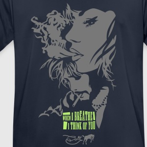 When I breathe - Männer T-Shirt atmungsaktiv
