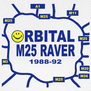 Orbital M25 Acid Hosue Raver T-Shirts - Baseball Cap