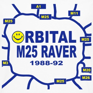 Orbital M25 Acid Hosue Raver T-Shirts - Men's Premium Longsleeve Shirt