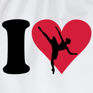 I love Ballett T-Shirts - Turnbeutel