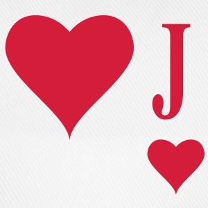 Heart Joker | joker of hearts | J T-Shirts - Baseballcap