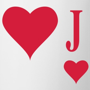 Heart Joker | joker of hearts | J T-Shirts - Mugg