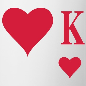 Heart King | Herz König | king of hearts | K T-Shirts - Mug