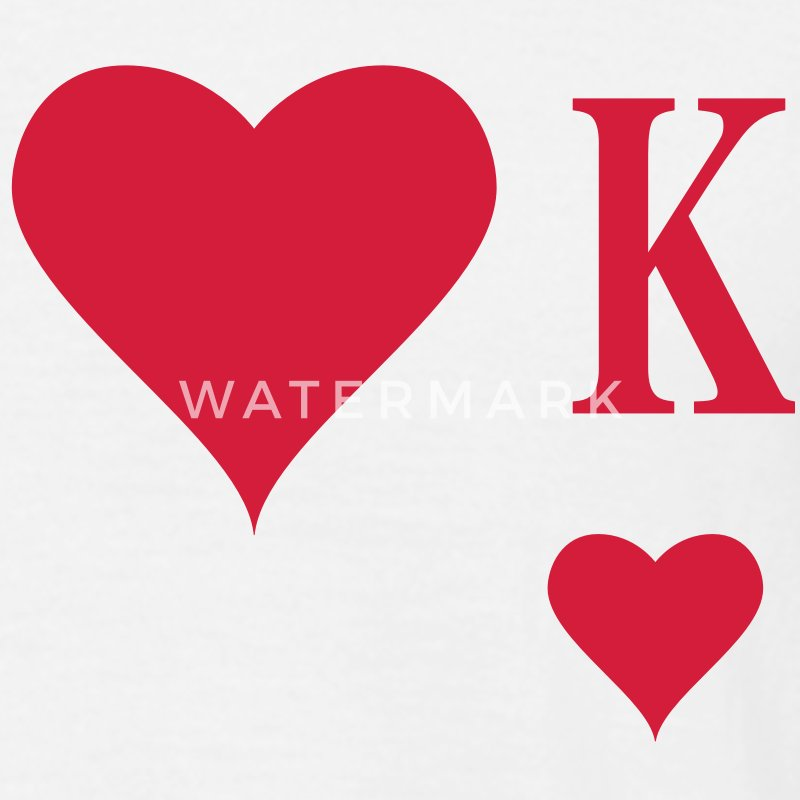 Heart King | Herz König | king of hearts | K T-Shirts - Men's T-Shirt