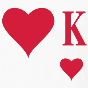 Heart King | Herz König | king of hearts | K T-Shirts - Männer Premium Langarmshirt