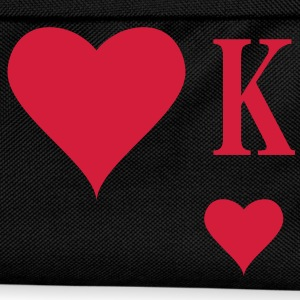 Heart King | Herz König | king of hearts | K T-Shirts - Ryggsäck för barn