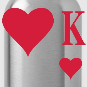 Heart King | Herz König | king of hearts | K T-Shirts - Vattenflaska