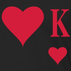 Heart King | Herz König | king of hearts | K T-Shirts - Långärmad premium-T-shirt herr