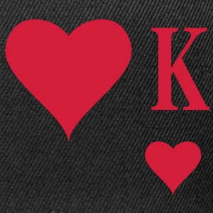Heart King | Herz König | king of hearts | K T-Shirts - Snapback cap