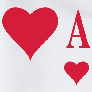 Herz Ass | Heart Ace | ace of hearts | A T-Shirts - Gymnastikpåse