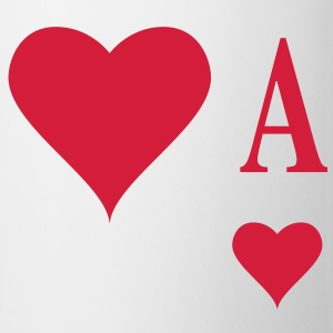 Herz Ass | Heart Ace | ace of hearts | A T-Shirts - Mugg