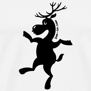 Christmas Reindeer Exercising Mugs  - Men's Premium T-Shirt