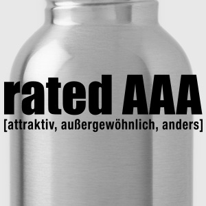 rated aaa T-Shirts - Trinkflasche