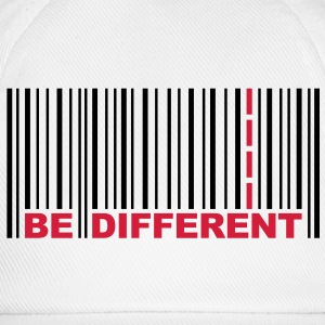Be Different - Barcode - Strichcode T-Shirts - Baseballkappe