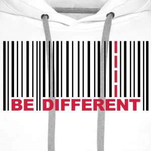 Be Different - Barcode - Strichcode T-Shirts - Männer Premium Hoodie
