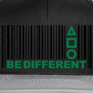 Be Different - Barcode - Simboli - Codice a barre Felpe - Snapback Cap