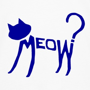 Meow? (Blue) Accessories - Men's Premium Longsleeve Shirt