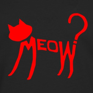 Meow? (Red) Bags  - Men's Premium Longsleeve Shirt