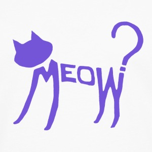 Meow? (Purple) Mugs  - Men's Premium Longsleeve Shirt