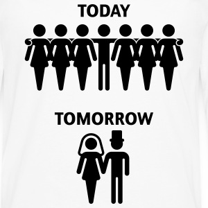 Today - Tomorrow (Junggesellenabschied / Stag Night) T-Shirt - Männer Premium Langarmshirt