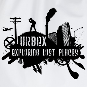 Urbex T-Shirt: Exploring Lost Places Black Pullover - Turnbeutel