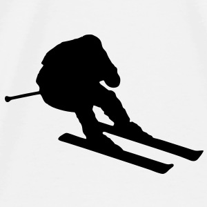 skier going fast / downhill skiing Accessories - Herre premium T-shirt