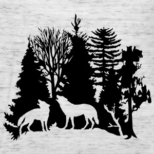wolf pack wolves howling wild animal moon forest tree trees wildernes Hoodies & Sweatshirts - Women's Tank Top by Bella
