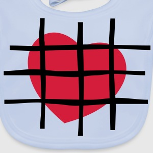Heart in Jail Kids' T-shirt - Baby Organic Bib