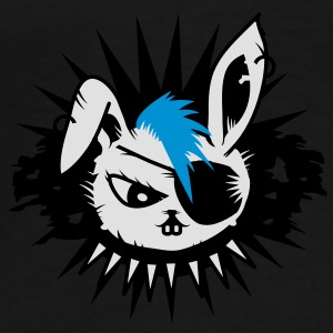rabbit with an eye patch and a mohawk Umbrellas - Men's Premium T-Shirt
