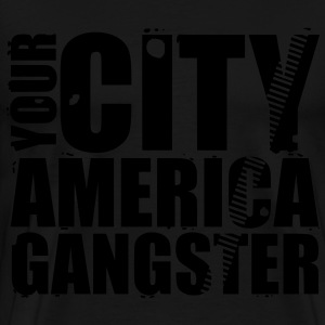 your city america gangster Gensere - Premium T-skjorte for menn