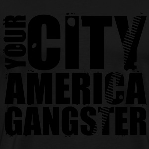 your city america gangster Tassen - Mannen Premium T-shirt