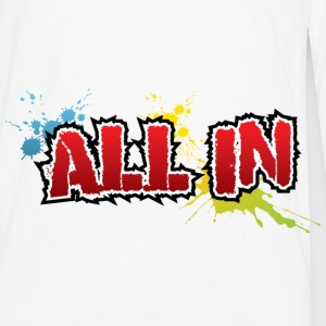 All In Graffiti - Långärmad premium-T-shirt herr