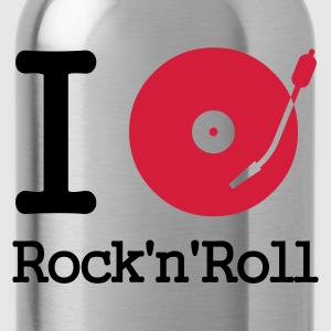 I dj / play / listen to rock & roll :-: - Trinkflasche