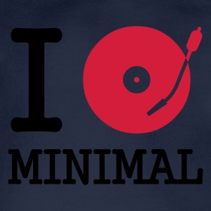 I dj / play / listen to minimal :-: - Organic Short-sleeved Baby Bodysuit