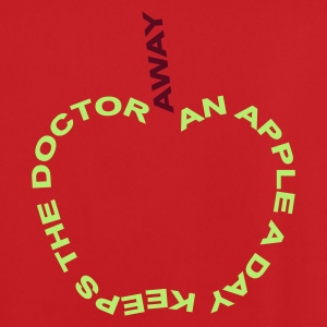 an apple a day keeps the doctor away :-: - Mannen voetbal shirt