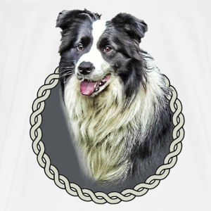 Border Collie 001 Bags  - Men's Premium T-Shirt