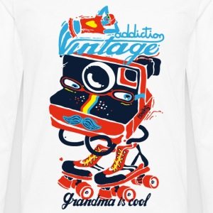 Retro photo addiction  Tee shirts - T-shirt manches longues Premium Homme