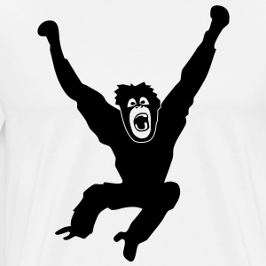 Monkey ape chimp gorilla orang utan swing king kong godzilla  Aprons - Men's Premium T-Shirt