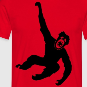 Monkey ape chimp gorilla orang utan swing king kong godzilla  Aprons - Men's T-Shirt