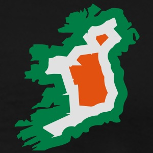 3 colors - Ireland irish Shamrock Saint Sankt Patricks Day Map Irland Irisch Kleeblatt Jakker - Premium T-skjorte for menn