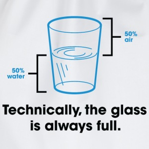Glass Is Always Full 2 (dd)++ T-skjorter - Gymbag