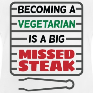 Big Missed Steak 2 (dd)++ Barn-T-shirts - Baby-T-shirt