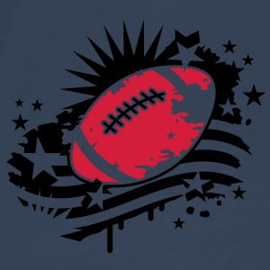 A football player with a football helmet and  ball in the graffiti style Bags  - Men's Premium T-Shirt