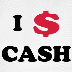 I love Cash T-Shirts - Baseballkappe
