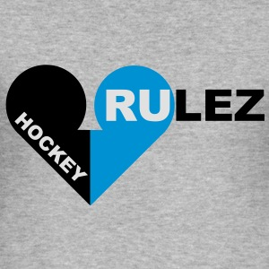 hockey rulez 3-colours Sweaters - slim fit T-shirt